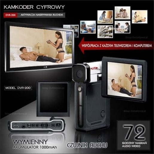 Kamkoder-kamera cyfrowa do 72 godzin nagrań DVD-200