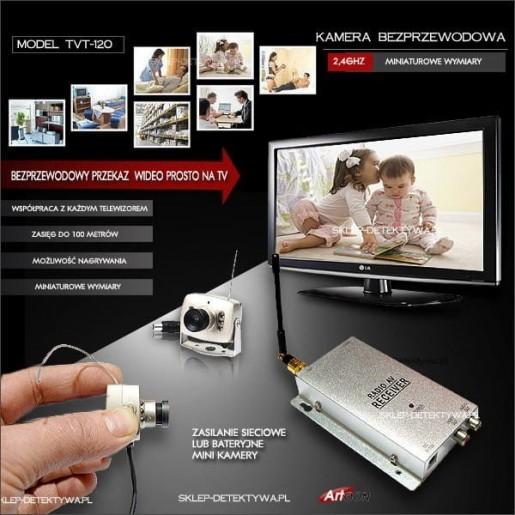 Kamera bezprzewodowa mini,współpraca z każdym TV TVT-120