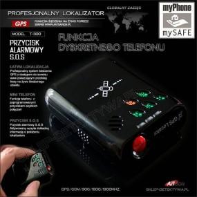 Profesjonalny GPS T300 Lokalizator, Podsłuch, mikro telefon GSM