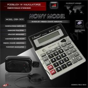Podsłuch GSM w kalkulatorze GSK300-darmowe połączenia