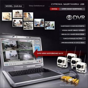 Nagrywarka USB/PC obsługa do 4 kamer jednocześnie DVR-R4