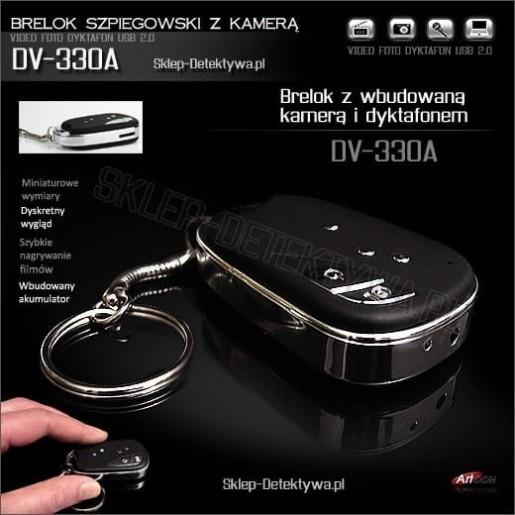 Dyktafon z kamerą ukryty w breloczku DV-330A +8GB SAMSUNG