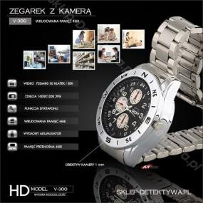 Zegarek ręczny V-300 z wbudowaną kamerą HD pamięć 4GB