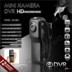 Mini kamera z nagrywaniem DVR HD-360 +8GB TOSHIBA