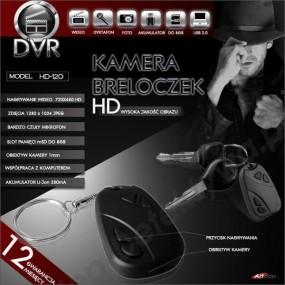 Kamera z nagrywaniem ukryta w breloczku HD-120+ 8GB TOSHIBA