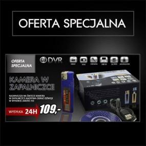 Kamera w zapalniczce -aktywacja głosem HD, RV-260 +8GB TOSHIBA