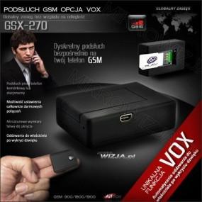 Podsłuch GSM z aktywacją głosem GSX-270+ Karta sim. .
