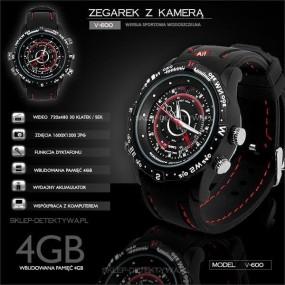 Zegarek na rękę z wbudowaną kamerą 4GB V-600