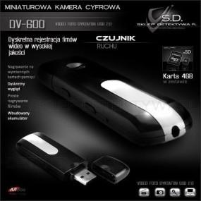 Kamera w pamięci przenośnej Pendrive -Czujnik ruchu DV600+8GB TOSHIBA