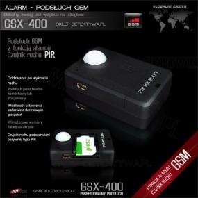 ALARM - Podsłuch GSM z czujnikiem ruchu GSX-400