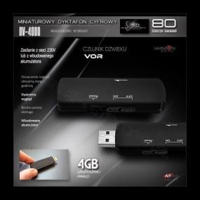 Dyktafon DV4000+Kamera w breloku. Zestaw promocyjny. (1)