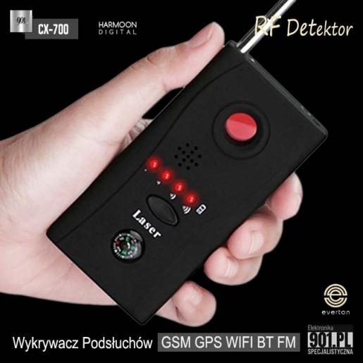 Wykrywacz podsłuchów ,kamer, GPS